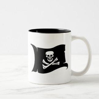 Waving Flag #4 Edward England Two-Tone Coffee Mug