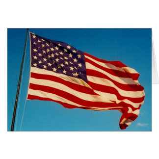 waving flag greeting card
