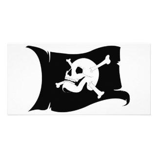 Waving Flag Jolly Roger #2 Card