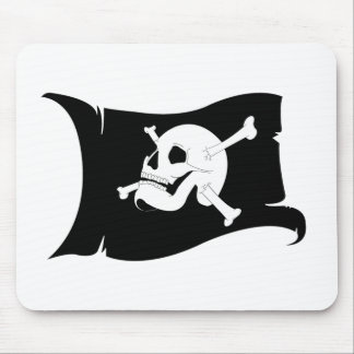 Waving Flag Jolly Roger #2 Mouse Pad
