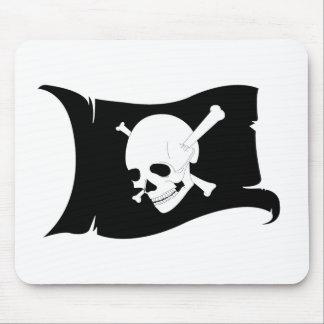 Waving Flag Jolly Roger #3 Mouse Pad