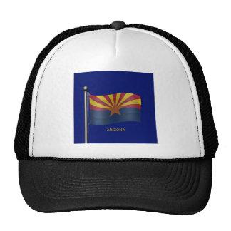 Waving Flag of Arizona Mesh Hats