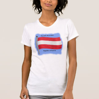 Waving Flag of Austria T-Shirt