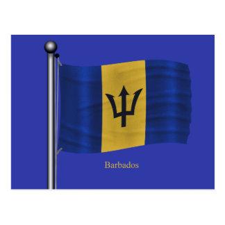 Waving Flag of Barbados Postcards