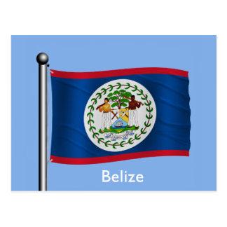 Waving Flag of Belize Post Card