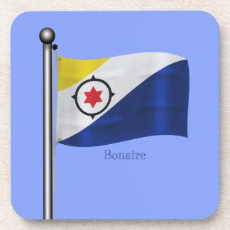 Waving Flag of Bonaire Beverage Coasters