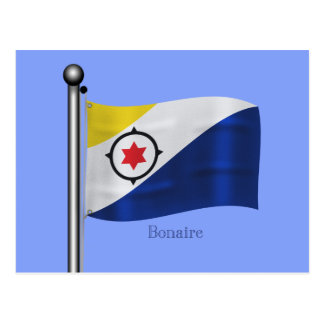 Waving Flag of Bonaire Postcard
