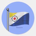 Waving Flag of Bonaire Round Stickers