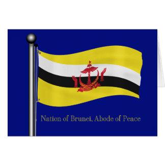 Waving Flag of Brunei Card