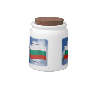 Waving flag of Bulgaria Candy Dishes