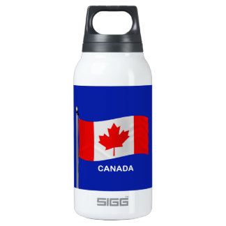 Waving Flag of Canada Thermos Water Bottle