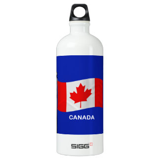 Waving Flag of Canada Water Bottle