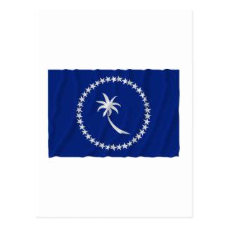 Waving flag of Chuuk Postcard