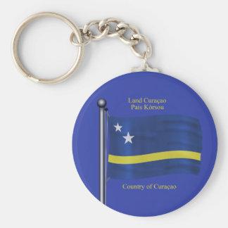 Waving Flag of Curacao Keychain