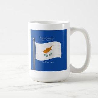 Waving Flag of Cyprus Coffee Mug