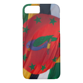 Waving Flag of Dominica iPhone 7 Case