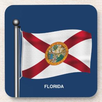 Waving Flag of Florida Drink Coasters