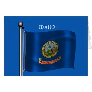 Waving Flag of Idaho Card