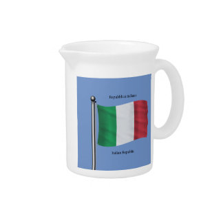 Waving Flag of Italy Pitcher