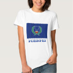 Waving flag of Pohnpei, with name T Shirt