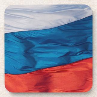 Waving Flag of Russia Beverage Coaster