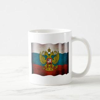 Waving flag of Russia Coffee Mug