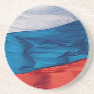 Waving Flag of Russia Drink Coaster