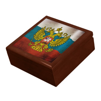 Waving flag of Russia Trinket Boxes