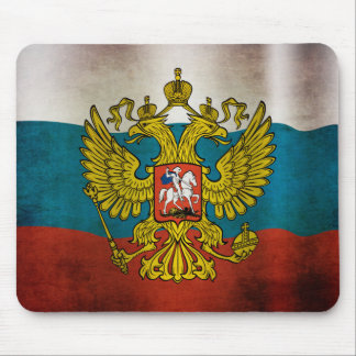 Waving flag of Russia Mouse Pad