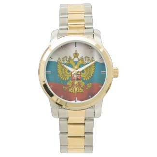 Waving flag of Russia Wrist Watch