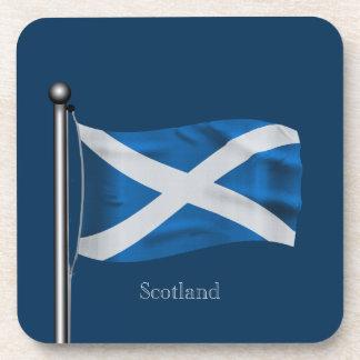 Waving Flag of Scotland Drink Coasters