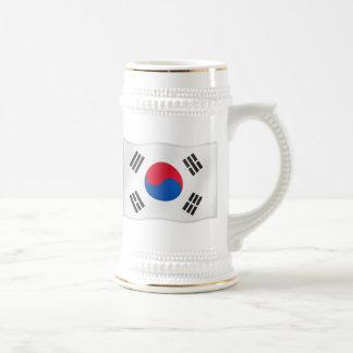 Waving Flag of So Korea 18 Oz Beer Stein