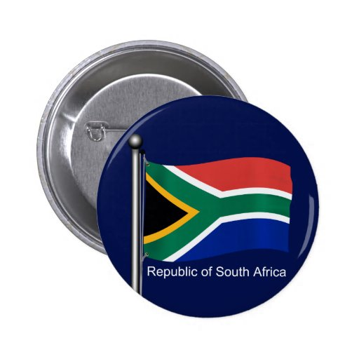 Waving Flag of South Africa Pin