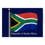 Waving Flag of South Africa Greeting Card