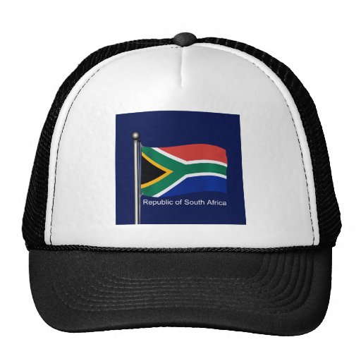 Waving Flag of South Africa Hat