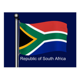 Waving Flag of South Africa Postcard