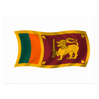 Waving flag of Sri Lanka Postcard