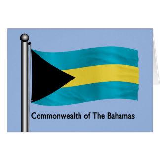 Waving Flag of the Bahamas Greeting Card
