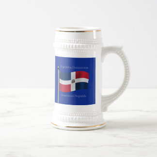 Waving Flag of the Dominican Republic Beer Stein