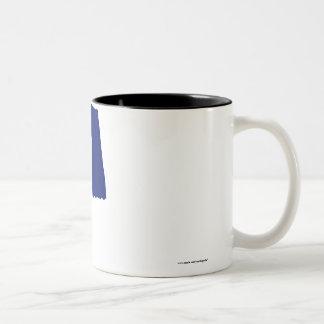 Waving Flag of the Harrisburg Volunteers Two-Tone Coffee Mug