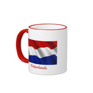 Waving Flag of the Netherlands Ringer Coffee Mug