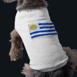 "Waving Flag of Uruguay Shirt<br><div class=""desc"">Customizable Waving Flag Soccer World Cup Tees</div>"
