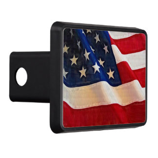 Waving Flag Patriot American USA Flag Hitch Covers