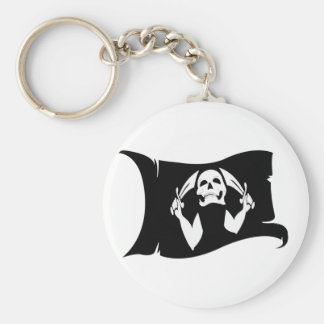 Waving Flag-Pirate Icon #11 Keychain