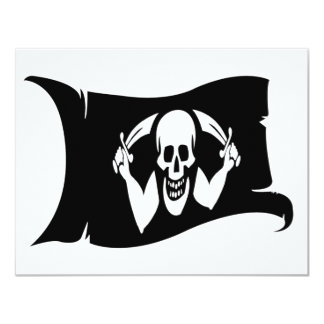 Waving Flag-Pirate Icon #2 4.25x5.5 Paper Invitation Card