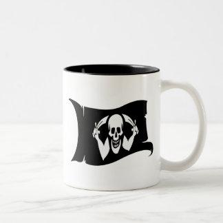 Waving Flag-Pirate Icon #2 Two-Tone Coffee Mug