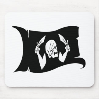 Waving Flag-Pirate Icon #3 Mouse Pad