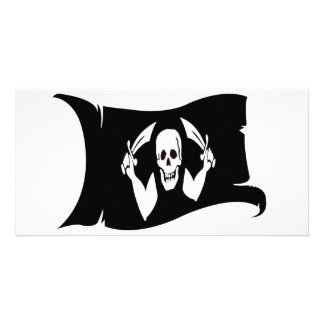 Waving Flag-Pirate Icon #4 Picture Card