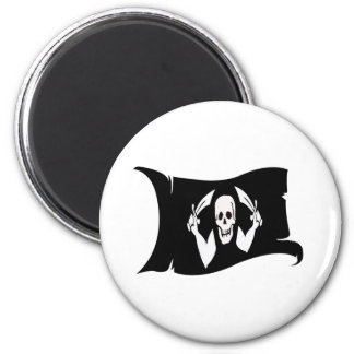 Waving Flag-Pirate Icon #4 Refrigerator Magnet