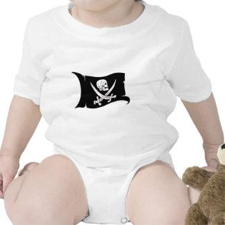 Waving Flag-Pirate Icon #6 Baby Bodysuit